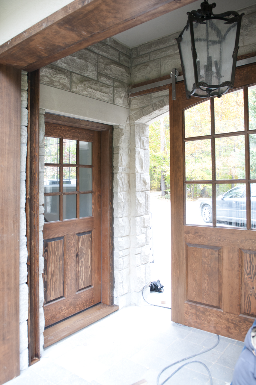 Closer look at entry door.