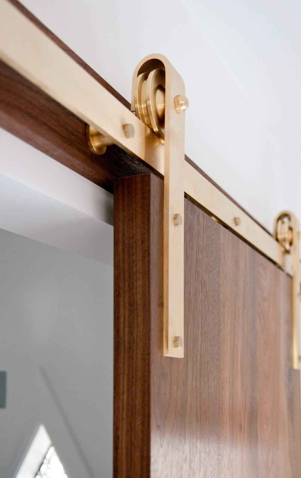 Brass_hardware_walnut_door_02. Barn Door Hardware ...