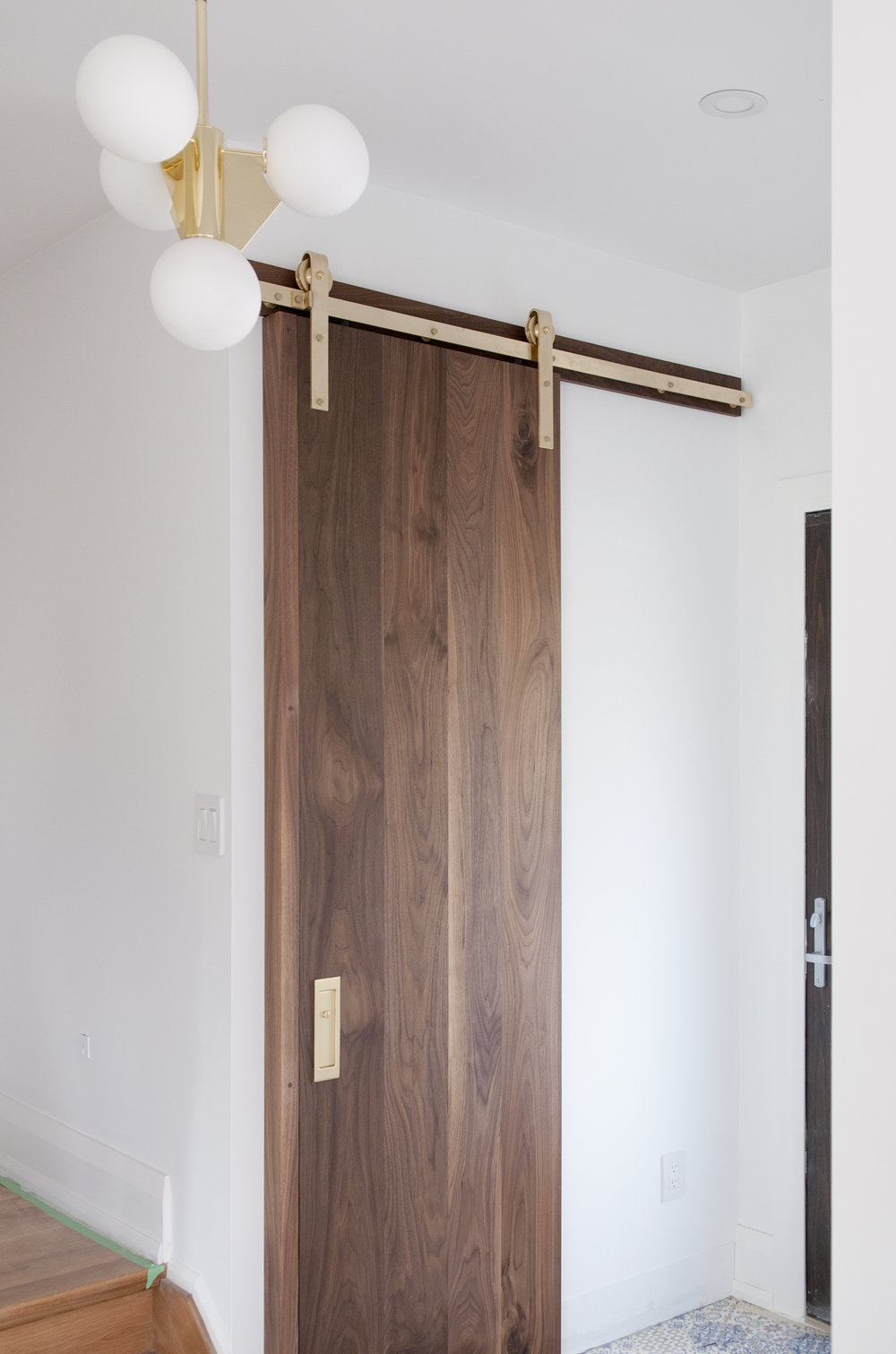 Solid walnut vertical planks
