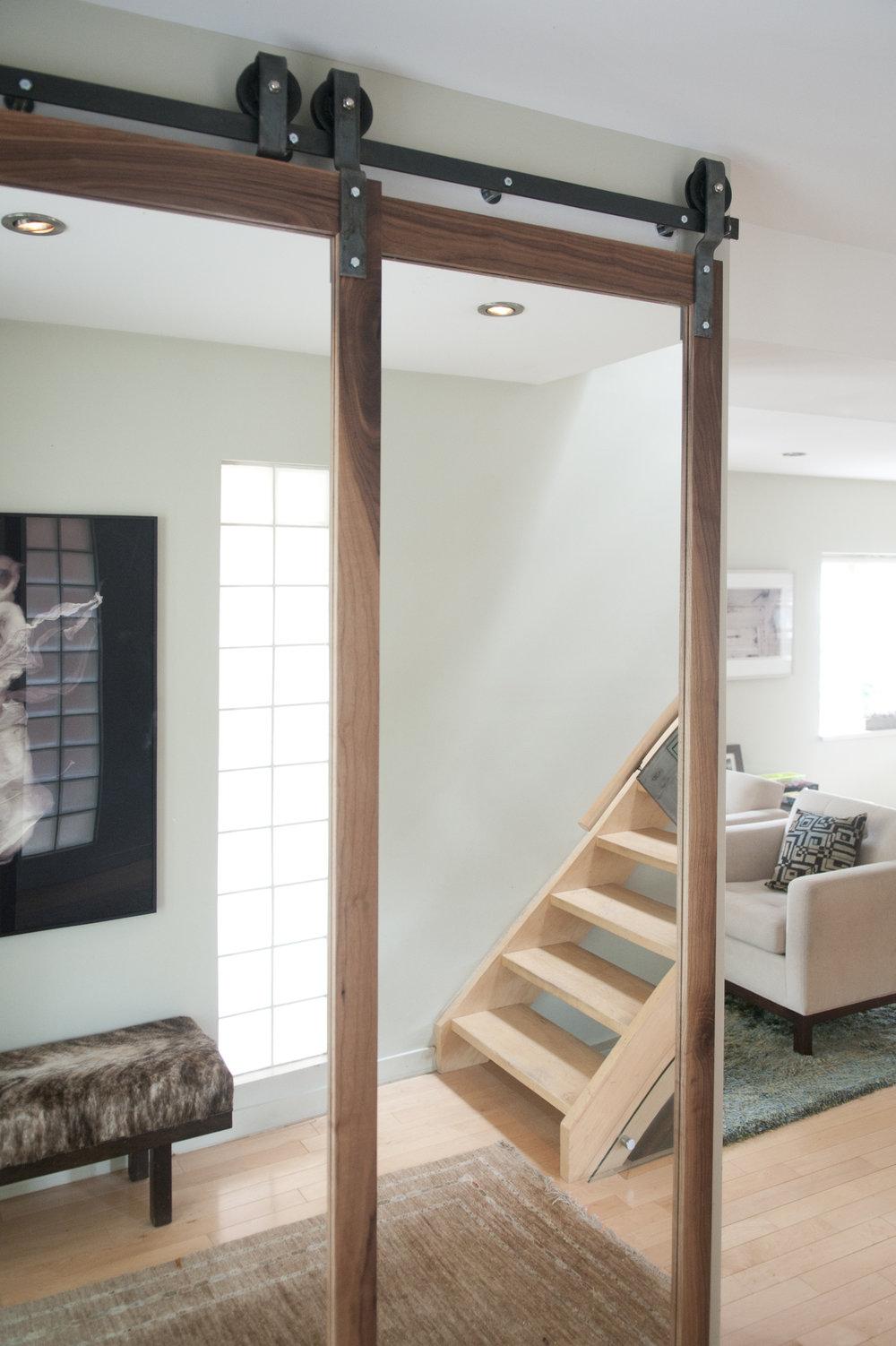 Panel mirror doors