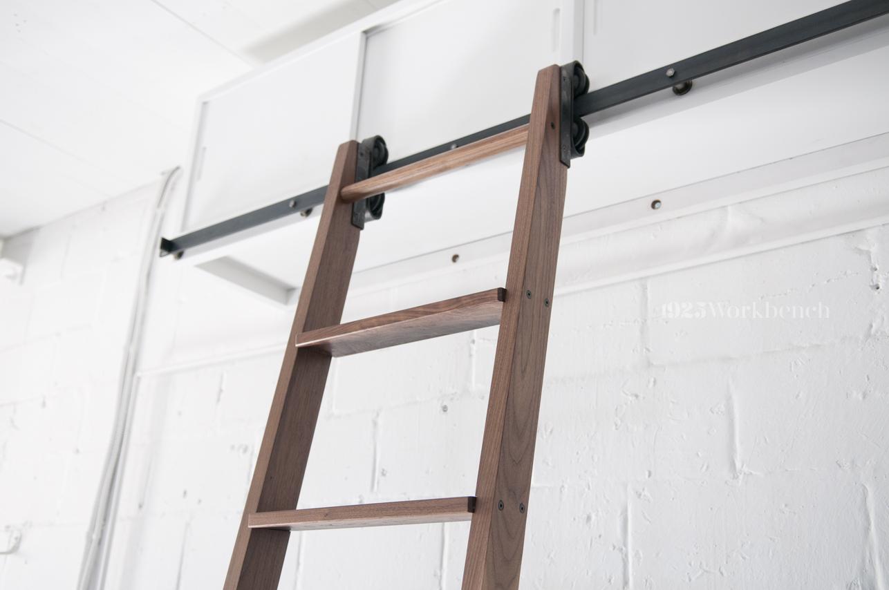 Rolling Library Ladder Barn Door Hardware Custom Doors And Furniture