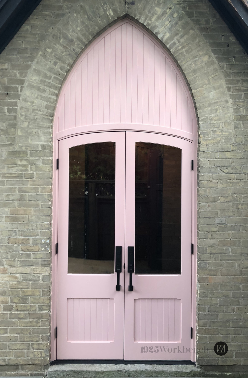 Complete door unit made for a church house in Warkworth, Ontario