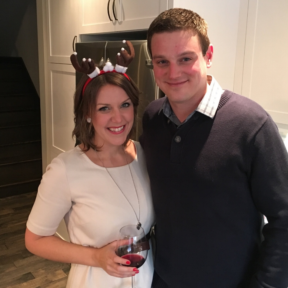 An online dating succcess story: Crystal and Dan. He loves her reindeer games.