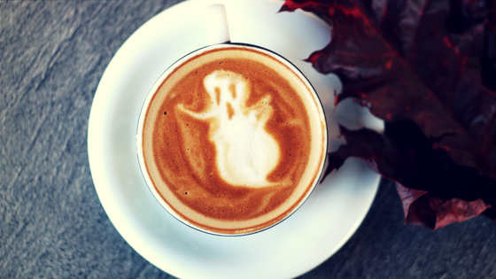 Ghosts may be cute in coffee foam designs, but not in dating. Photo: Toa Heftiba