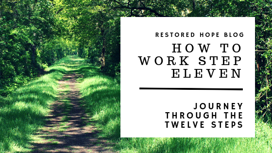 title_how_to_work_step_eleven_journey_through_the_twelve_steps_restored_hope_counseling_therapy_ann_arbor_novi_michigan_christian_sex_love_addiction.png