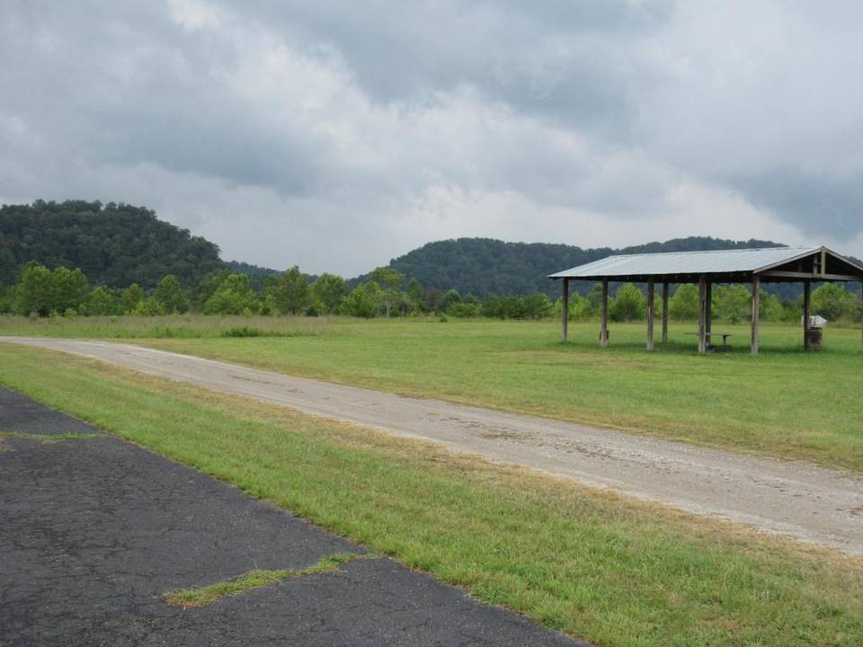 The preferred site in Letcher County identified by the U.S. Bureau of Prisons for a high-security prison is a spot at Roxana that was flattened by surface mining. Photo by Bill Estep with the Lexington Herald-Leader