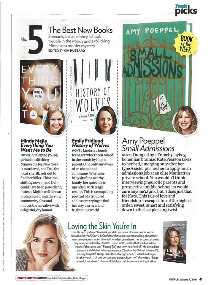 "People magazine's ""Book of the Week"""