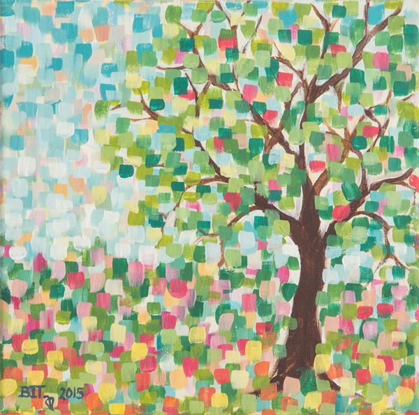 Pointillist Tree