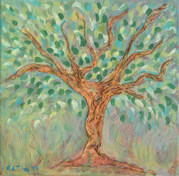 Blue-Green Tree