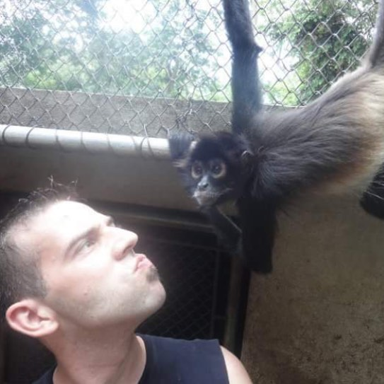 There's some serious pretext to the look I'm giving this Female Spider Monkey here. Got the notification this was 8 years ago, working with wildlife in Guatemala. It was a very formative summer that I hope to experience again.