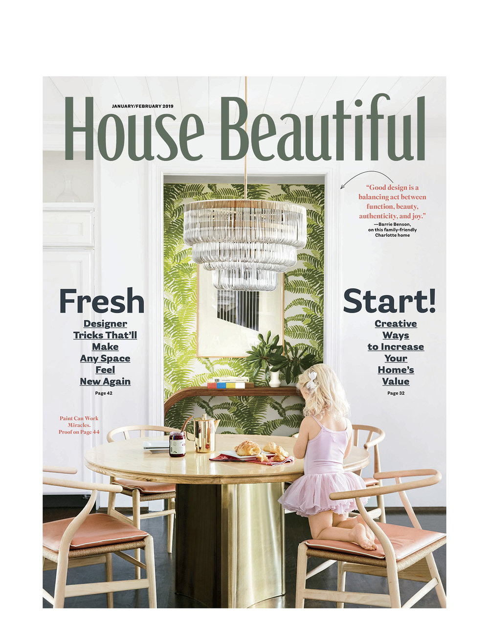 House Beautiful Jan/Feb 2019 Design: Barrie Benson