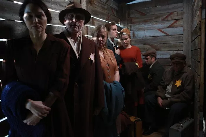 "Still from ""Elefthromania""  Processed (hair and makeup) everyone except the second gentleman (in hat)"