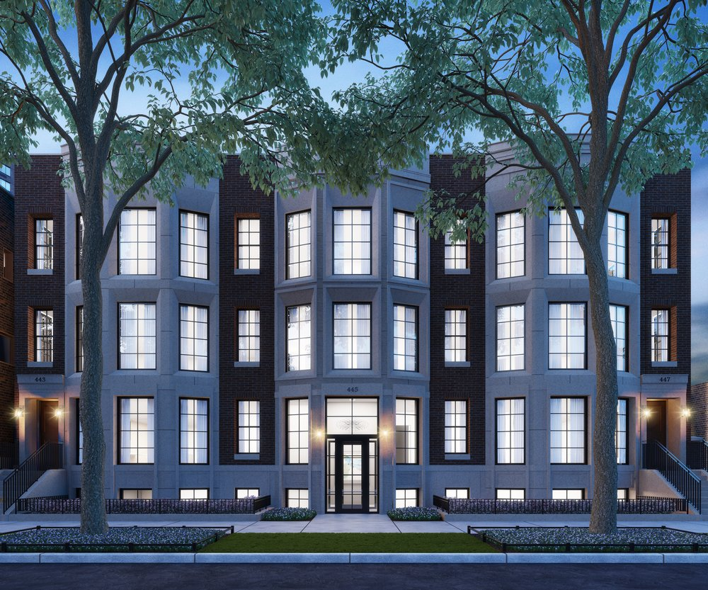 Exterior Rendering - Night - North Elevation - 441 W Arlington.jpg