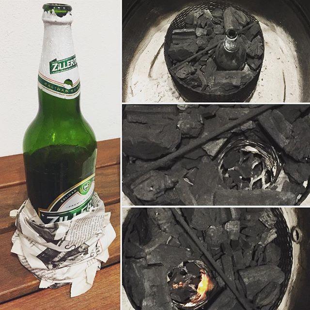 Cómo prender tu smoker con una botella vacía