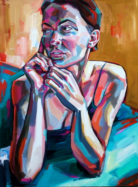 "Nicholle by Sheila Dunn, oil on canvas, 30""x40"""