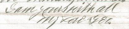George's signature