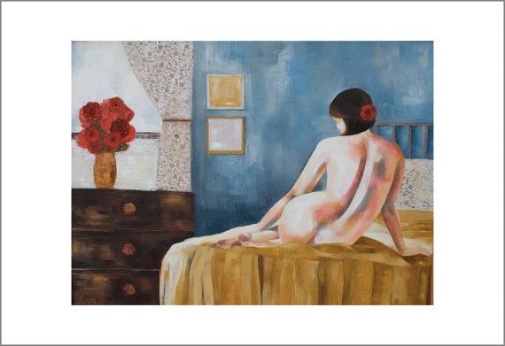 At Dawn, fine art print of original oil painting $45