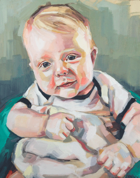 """Brayden"", oil on board, 8""x10"""