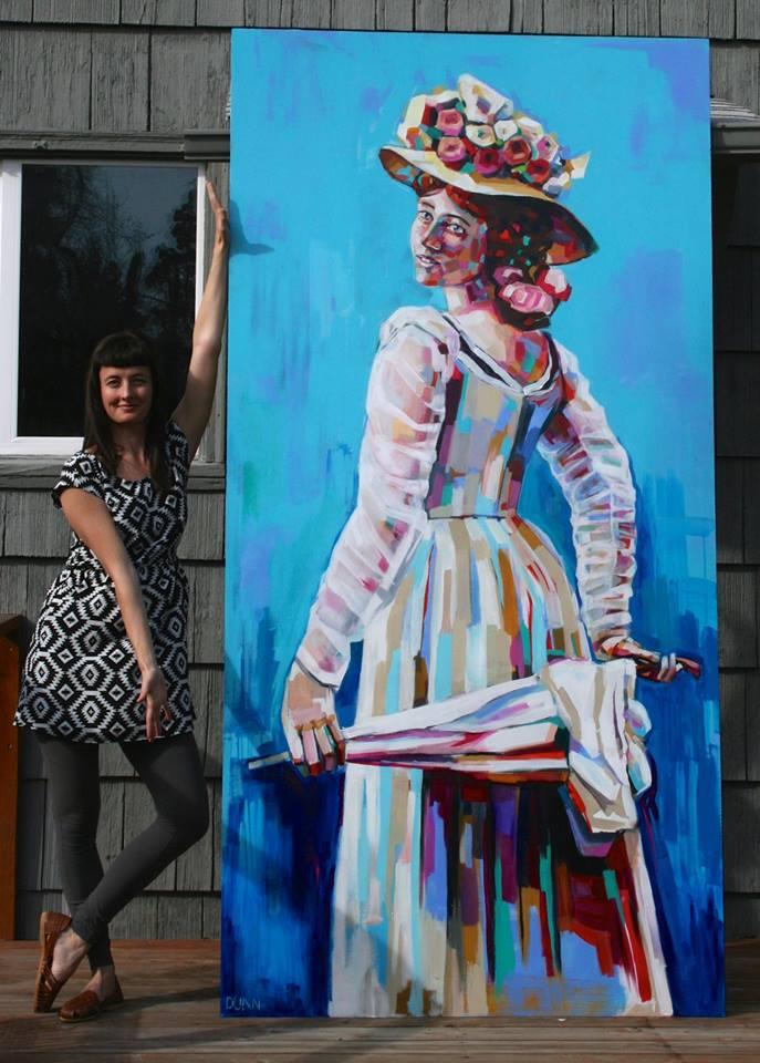 Klondike Kate mural by Sheila Dunn