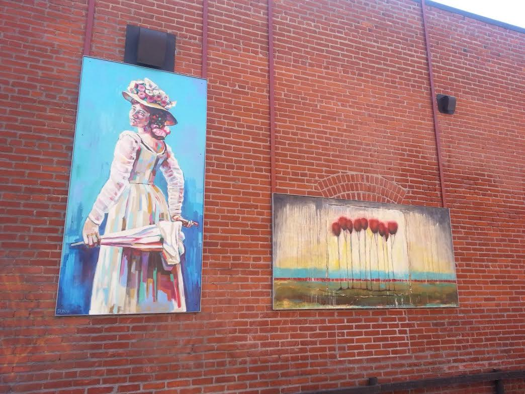 Klondike Kate mural in alley