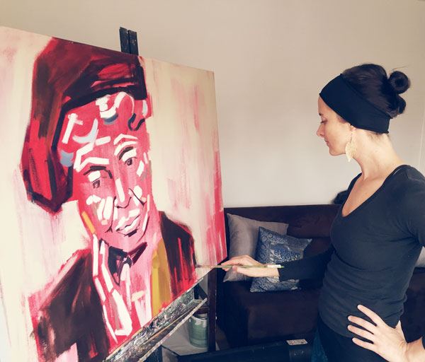 Painting the muse Eleanor Roosevelt