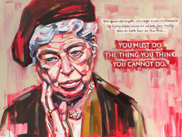 Eleanor Roosevelt, fine art print of original oil painting