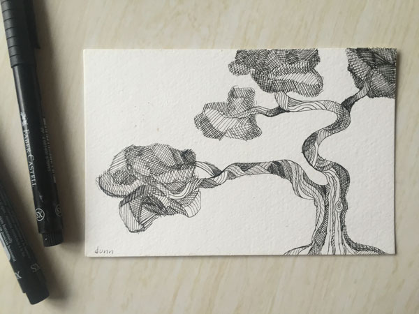 Juniper-Tree-drawing-by-Sheila-Dunn