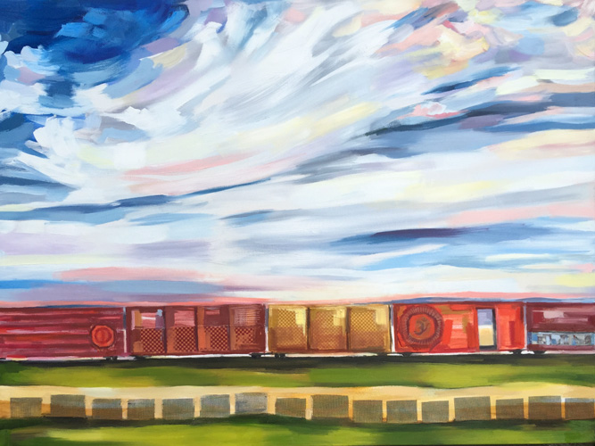 Western Train by Sheila Dunn