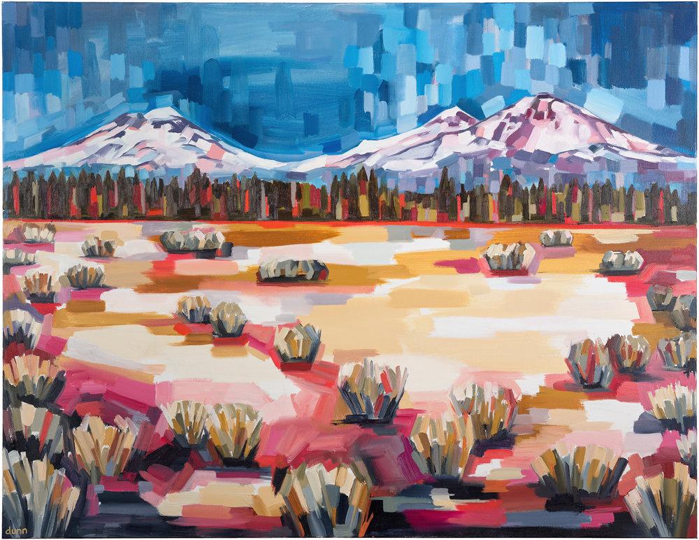 Three Sisters Original painting 8.5 x 11 inch print 13 x 19 inch print