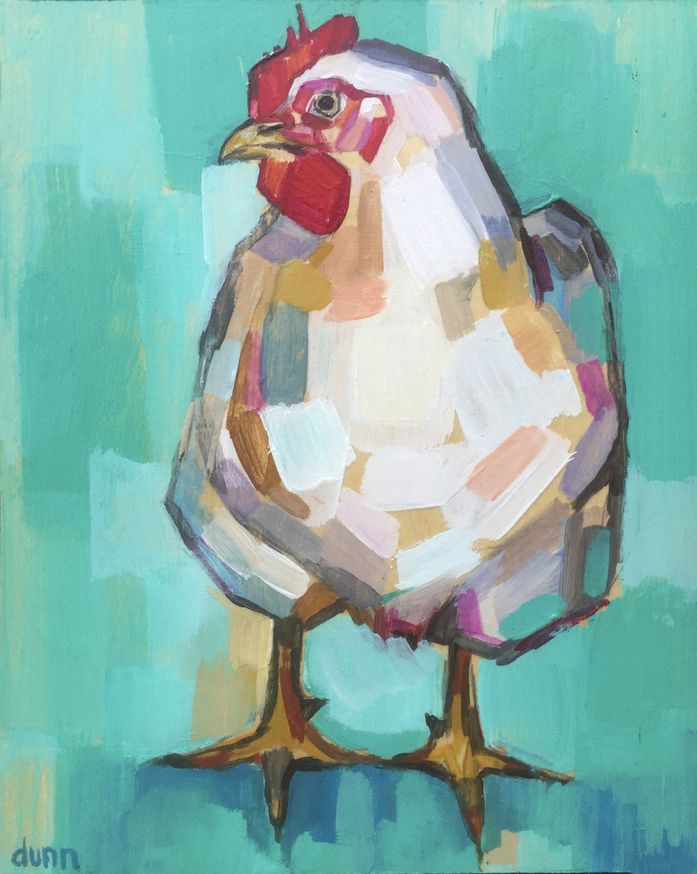 Hen Original painting Fine art print