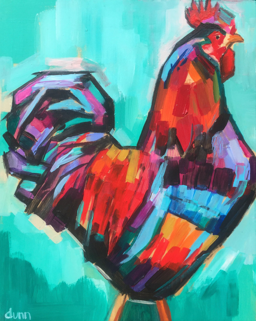 Rooster Original painting Fine art print