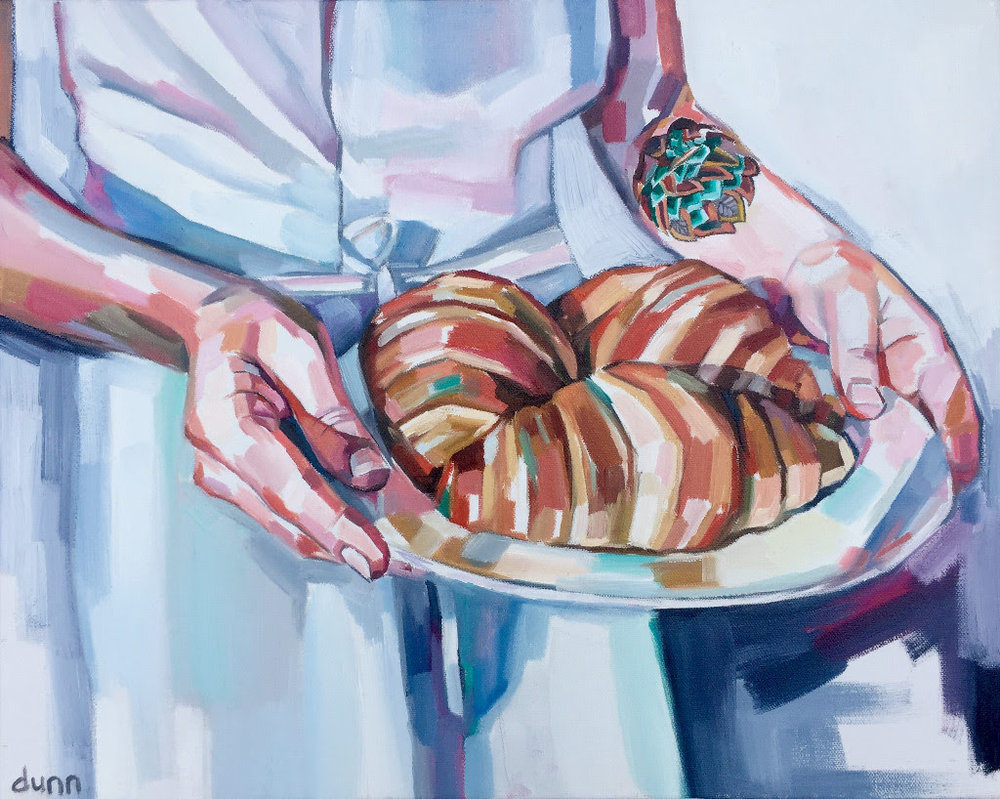 Sparrow Croissants Commissioned by Sparrow Bakery 24 x 30 inches Oil on canvas