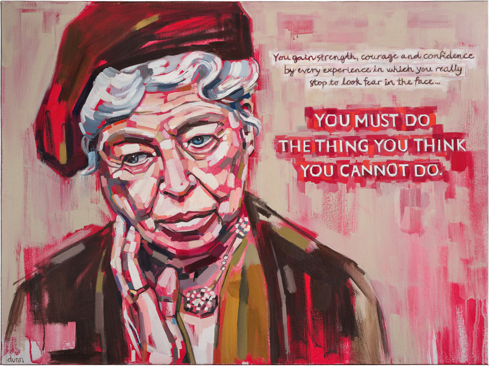 Eleanor Roosevelt Oil on canvas 30 x 40 inches Original sold 8.5 x 11 inch print - $25 13 x 19 inch print - $45