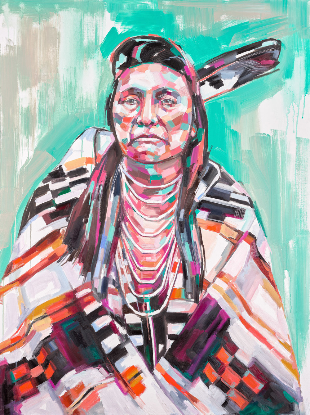 Chief Joseph Oil on canvas 36 x 48 inches Original sold 8.5 x 11 inch print - $25 13 x 19 inch print - $45