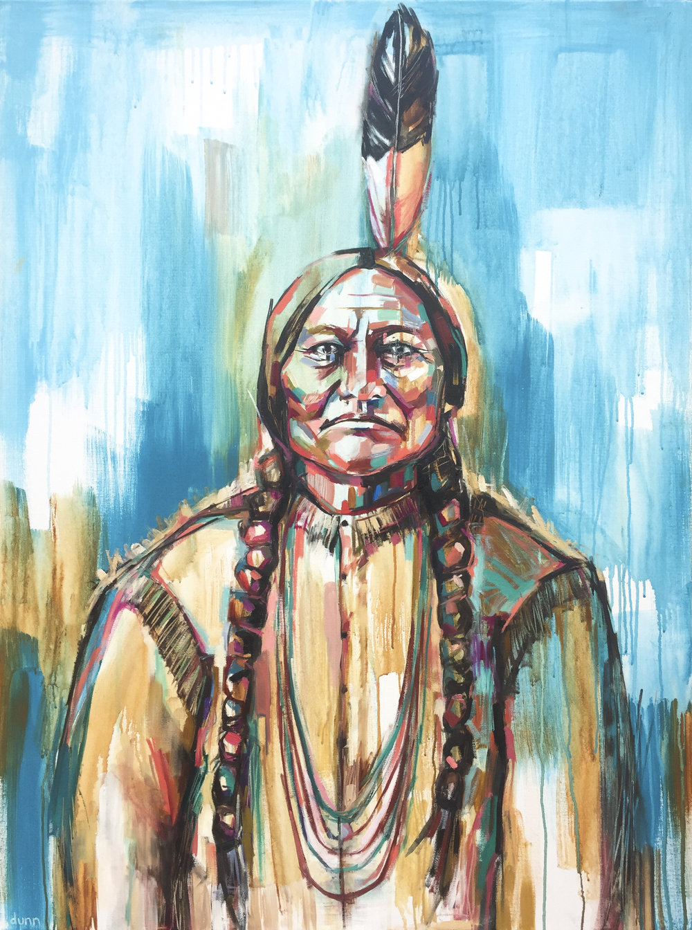 Sitting Bull Oil on canvas 30 x 40 inches $4000 8.5 x 11 inch print - $25 13 x 19 inch print - $45