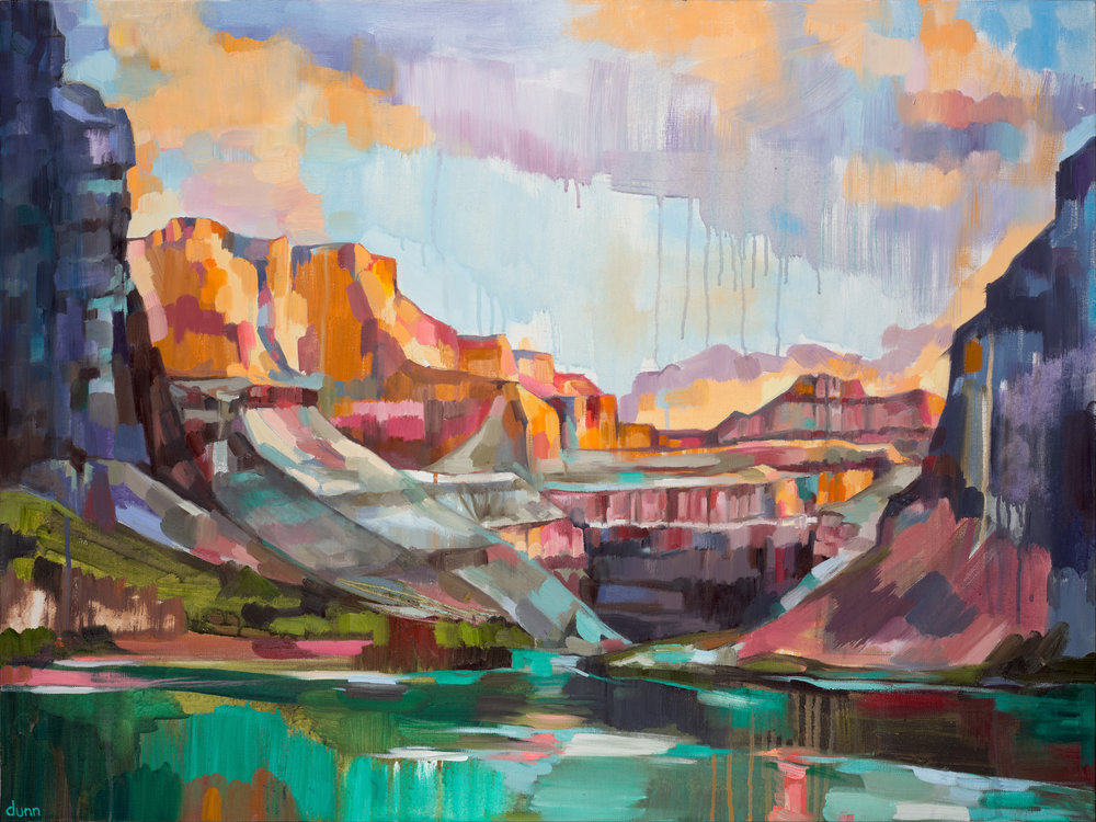 Grand Canyon Oil on canvas 24 x 26 inches Original sold 8.5 x 11 inch print - $25 13 x 19 inch print - $45