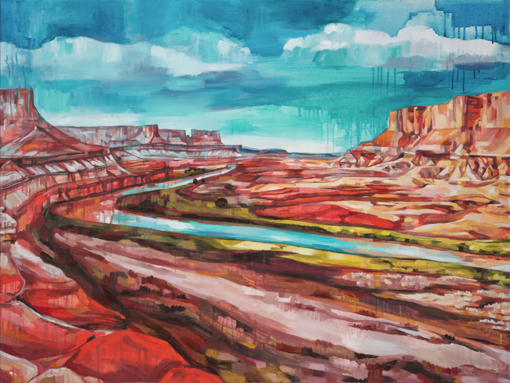 CANYONLANDS, oil on canvas, 36 x 48 inches, $3500 -10% of print sales to the Conservation Alliance.