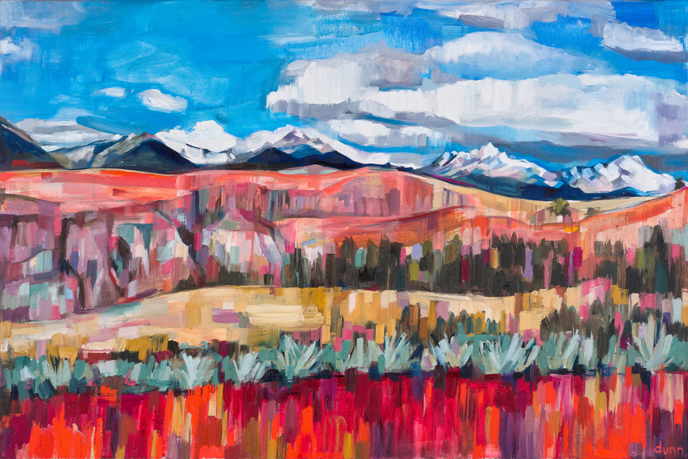 CORDILLERA BLANCA, oil on canvas, 24 x 36 inches -10% of sales to the Conservation Alliance