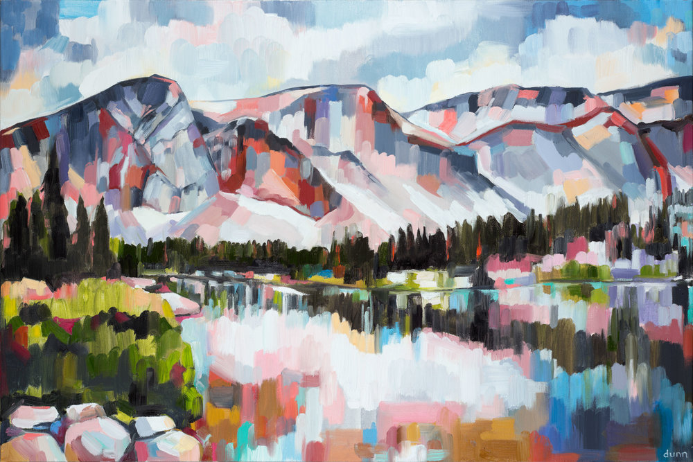 SNOWY RANGE, oil on canvas, 24 x 36 inches -10% of print sales to the Conservation Alliance