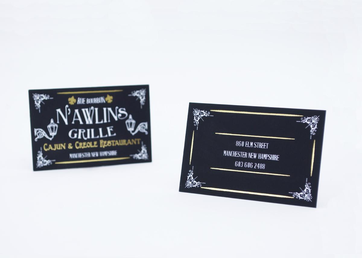 New orleans themed business cards matthew radwan design reheart Images