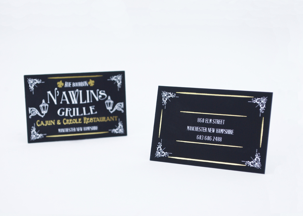 New orleans themed business cards matthew radwan design reheart Gallery