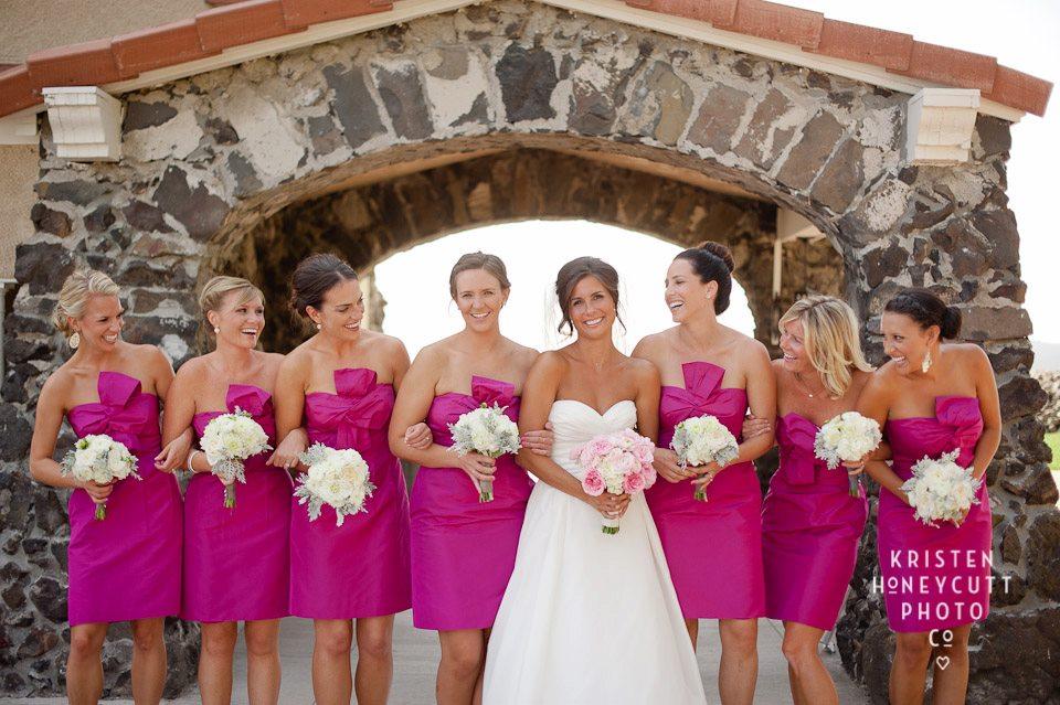 Happy Bride & her Attendants, ©  Kristen Honeycutt