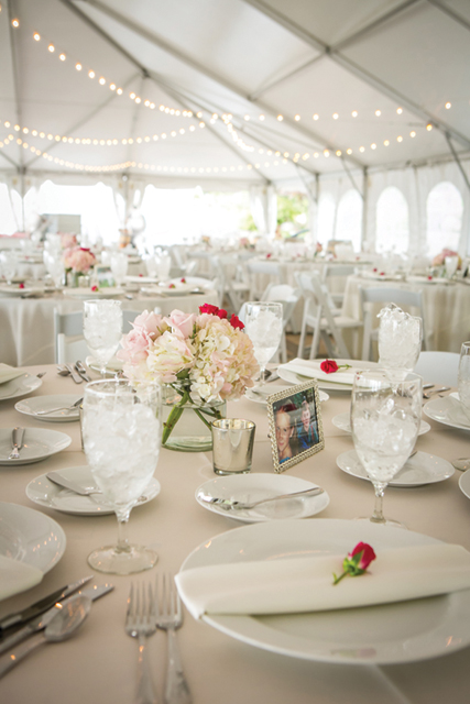 Elegant reception space in the Vineyard Tent