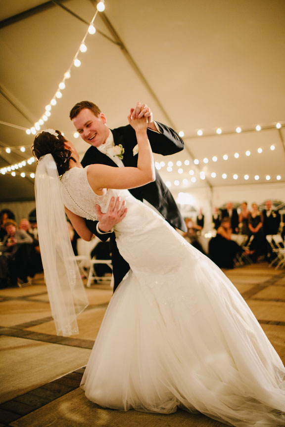 The Vineyard Tent is perfect for dancing