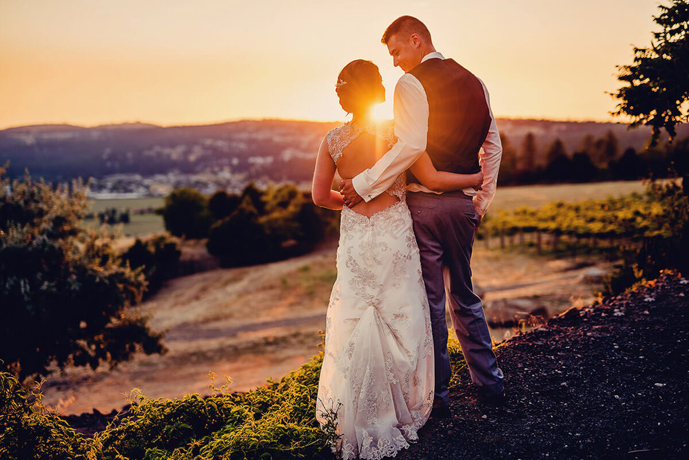 Sunset vistas for your wedding day! ©  Marianne Wiest