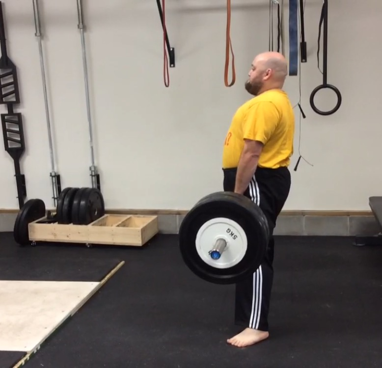 Zach deadlifting 120kg after only 5 months training