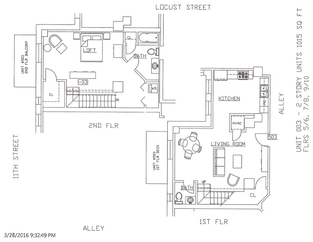Unit 03, 1015 Square Feet