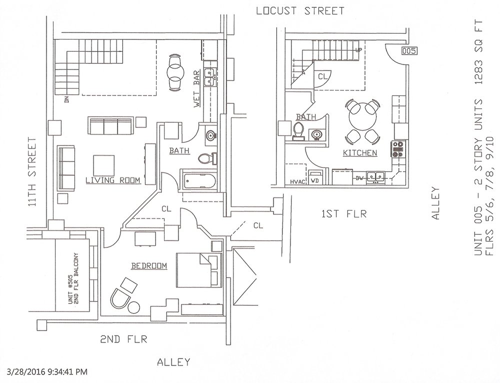 Unit 05, 1283 Square Feet