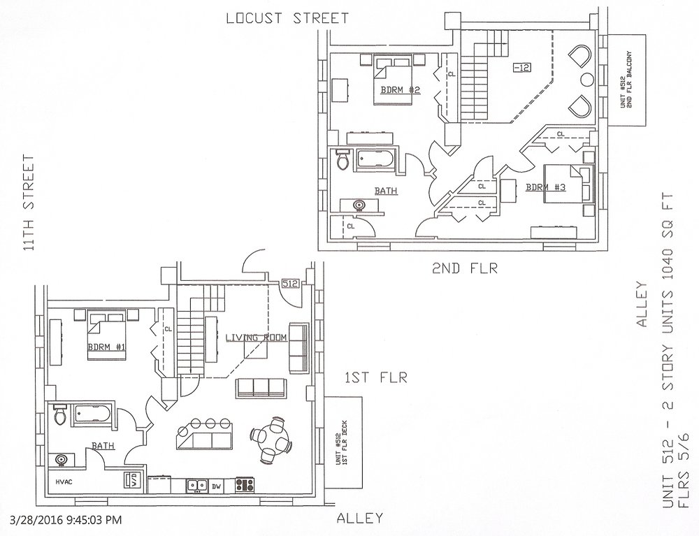 Unit 512, 1040 Square Feet
