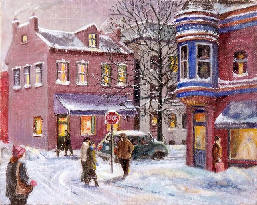 Menard at Russell in Winter. Painting by unknown Artist